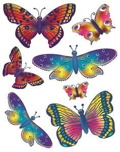 Bilde av Vindusdekor Sommerfugler, selvklebende folie, 7