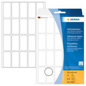 Bilde av HERMA standardetiketter, hvit 19x40 mm (640 stk)