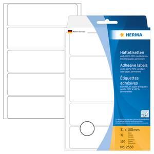 Bilde av HERMA standardetiketter, hvit 31x100 mm (160 stk)
