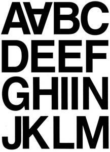 Bilde av VARIO bokstaver 33 mm, A-N, svart, 2 ark (10