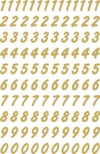 Bilde av VARIO talletiketter 8 mm, 0-9, gull/transparent,