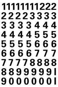 Bilde av VARIO talletiketter 10 mm, 0-9, svart, 1 ark (10