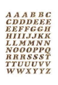 Bilde av VARIO bokstaver 8 mm, A-Z prismatic folie 1 ark
