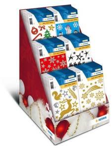 Bilde av Display Christmas, MAGIC stickers, 6 motiver, 60