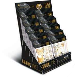 Bilde av Display FLASH Tattoos, 10 motiver, 50 pakninger
