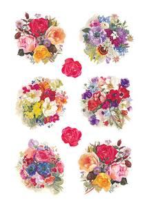 Bilde av DECOR Stickers Blomsterpynt, papir, 3 ark (10
