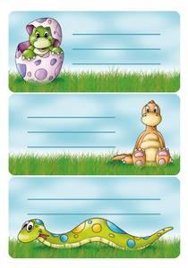 Bilde av VARIO boketiketter Dinosaur glitter 2 ark pr.